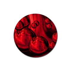 Red Bubbles Drink Coasters 4 Pack (round) by Siebenhuehner