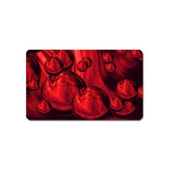 Red Bubbles Magnet (name Card) by Siebenhuehner