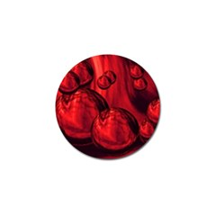 Red Bubbles Golf Ball Marker 4 Pack