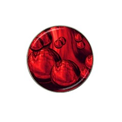 Red Bubbles Golf Ball Marker 4 Pack (for Hat Clip) by Siebenhuehner