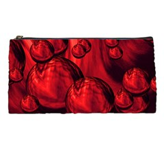 Red Bubbles Pencil Case by Siebenhuehner