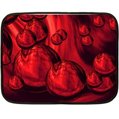 Red Bubbles Mini Fleece Blanket (two Sided) by Siebenhuehner