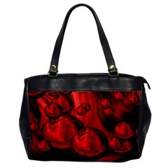 Red Bubbles Oversize Office Handbag (one Side) by Siebenhuehner