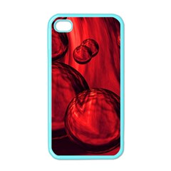 Red Bubbles Apple Iphone 4 Case (color) by Siebenhuehner