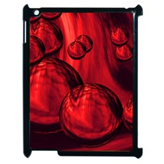 Red Bubbles Apple Ipad 2 Case (black) by Siebenhuehner