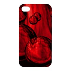 Red Bubbles Apple Iphone 4/4s Hardshell Case by Siebenhuehner