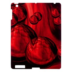 Red Bubbles Apple Ipad 3/4 Hardshell Case by Siebenhuehner