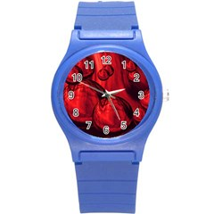 Red Bubbles Plastic Sport Watch (small) by Siebenhuehner