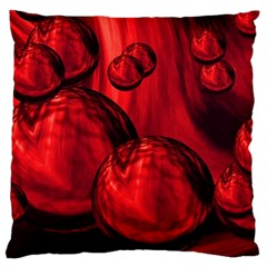 Red Bubbles Large Cushion Case (single Sided)  by Siebenhuehner