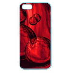 Red Bubbles Apple Seamless Iphone 5 Case (color)