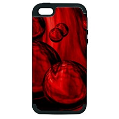 Red Bubbles Apple Iphone 5 Hardshell Case (pc+silicone) by Siebenhuehner