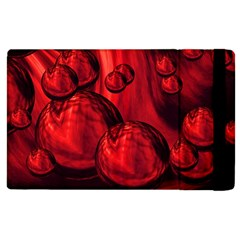 Red Bubbles Apple Ipad 3/4 Flip Case by Siebenhuehner