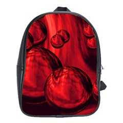 Red Bubbles School Bag (xl) by Siebenhuehner