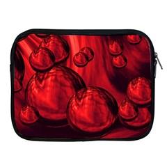 Red Bubbles Apple Ipad 2/3/4 Zipper Case by Siebenhuehner