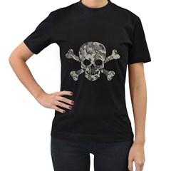 Camo Skull Womens' T Shirt (black)