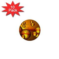 Sunset Bubbles 1  Mini Button (10 Pack) by Siebenhuehner
