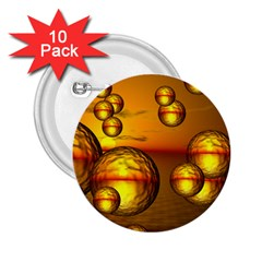 Sunset Bubbles 2 25  Button (10 Pack) by Siebenhuehner