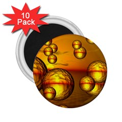 Sunset Bubbles 2 25  Button Magnet (10 Pack) by Siebenhuehner