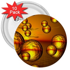 Sunset Bubbles 3  Button (10 Pack) by Siebenhuehner