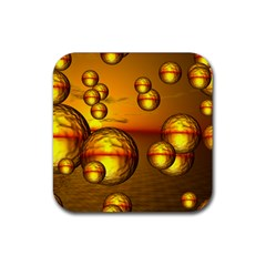 Sunset Bubbles Drink Coasters 4 Pack (square) by Siebenhuehner