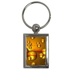 Sunset Bubbles Key Chain (rectangle) by Siebenhuehner