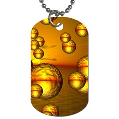 Sunset Bubbles Dog Tag (two Sided)  by Siebenhuehner