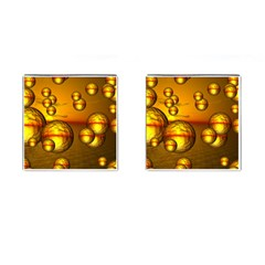 Sunset Bubbles Cufflinks (square) by Siebenhuehner