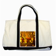 Sunset Bubbles Two Toned Tote Bag by Siebenhuehner