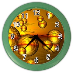 Sunset Bubbles Wall Clock (color) by Siebenhuehner