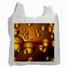 Sunset Bubbles Recycle Bag (one Side) by Siebenhuehner