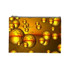 Sunset Bubbles Cosmetic Bag (large) by Siebenhuehner