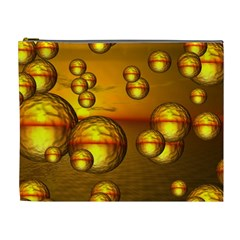 Sunset Bubbles Cosmetic Bag (xl) by Siebenhuehner