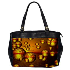 Sunset Bubbles Oversize Office Handbag (one Side) by Siebenhuehner