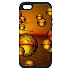 Sunset Bubbles Apple Iphone 5 Hardshell Case (pc+silicone) by Siebenhuehner