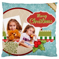 Merry Christmas By Joely   Large Cushion Case (two Sides)   H25brekogaw6   Www Artscow Com Back