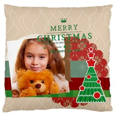 Merry Christmas By Joely   Large Cushion Case (two Sides)   49auxor4p1qi   Www Artscow Com Front