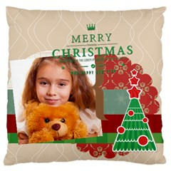 Merry Christmas By Joely   Large Cushion Case (two Sides)   49auxor4p1qi   Www Artscow Com Back