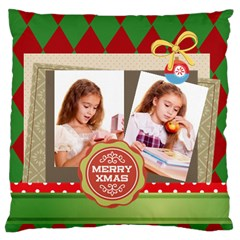 Merry Christmas By Joely   Large Cushion Case (two Sides)   Bw6by5qfe545   Www Artscow Com Back