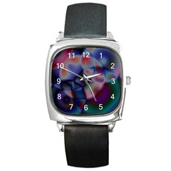 Multi Colour Square Leather Watch by KKsDesignz