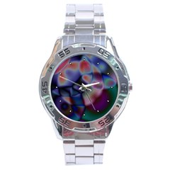 Multi Colour Stainless Steel Watch (men s)