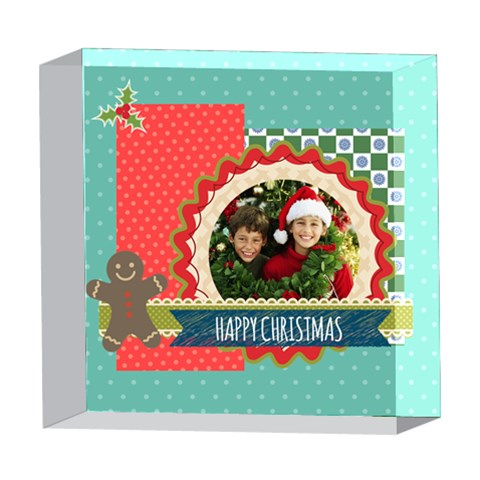 Merry Christmas By Merry Christmas   5  X 5  Acrylic Photo Block   47oa7k1hj74g   Www Artscow Com Front