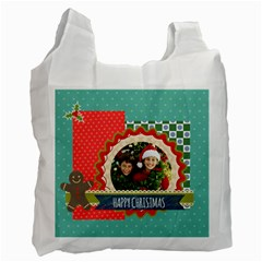 Merry Christmas By Merry Christmas   Recycle Bag (two Side)   Yky0uixdad57   Www Artscow Com Front