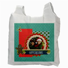 Merry Christmas By Merry Christmas   Recycle Bag (two Side)   Yky0uixdad57   Www Artscow Com Back