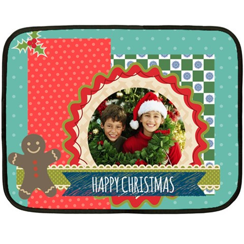 Chriustmas By Merry Christmas   Fleece Blanket (mini)   4lz1evpvb83c   Www Artscow Com 35 x27 Blanket