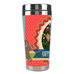 Christmas By Merry Christmas   Stainless Steel Travel Tumbler   Z0hmeazf80ix   Www Artscow Com Left