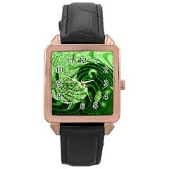 Magic Balls Rose Gold Leather Watch  by Siebenhuehner