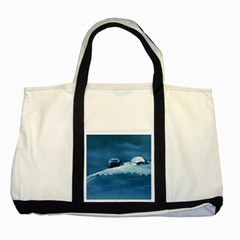 Drops Two Toned Tote Bag by Siebenhuehner