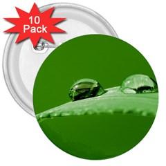 Waterdrops 3  Button (10 Pack) by Siebenhuehner