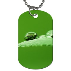 Waterdrops Dog Tag (two Sided)  by Siebenhuehner