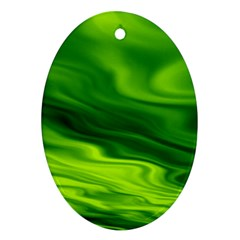 Green Oval Ornament by Siebenhuehner
